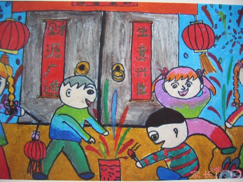 过年儿童创意画