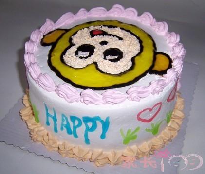 母子diy蛋糕——淘气的猴子