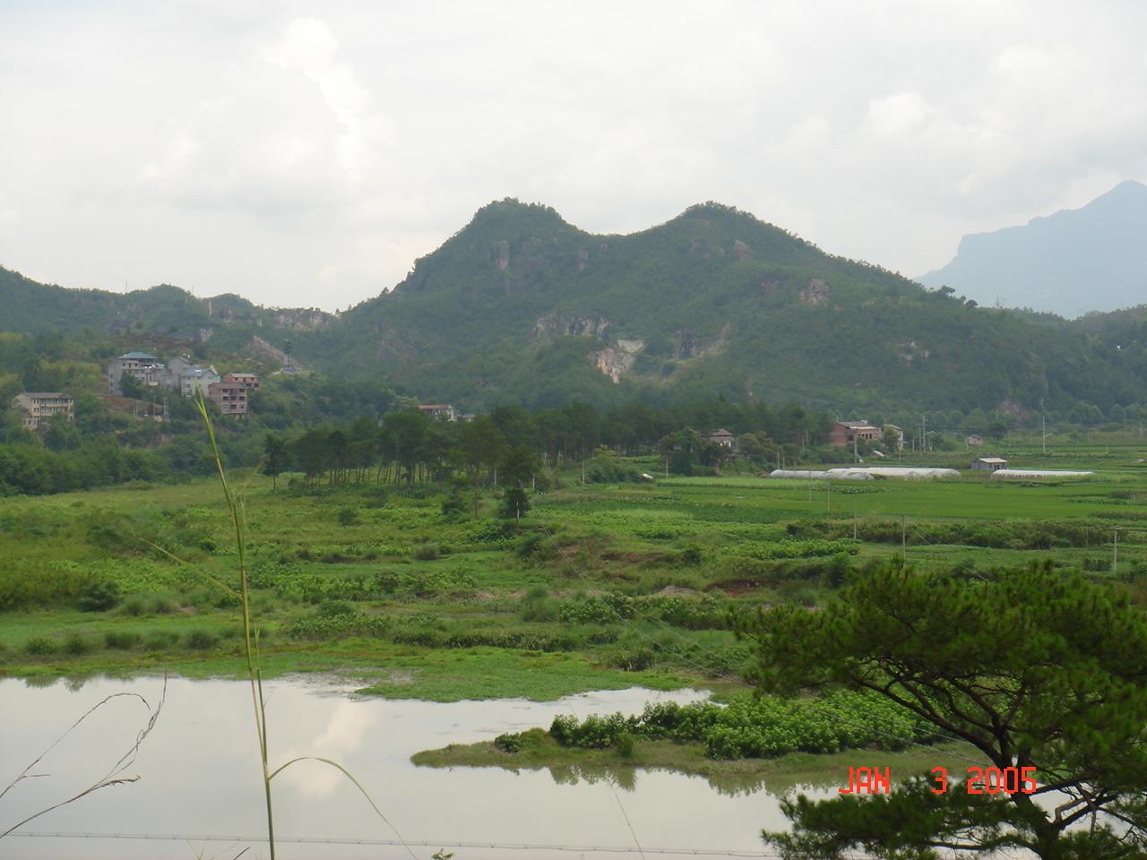 山清水秀好浙江-丽水婺江旁拍的风景照片_旅游户外
