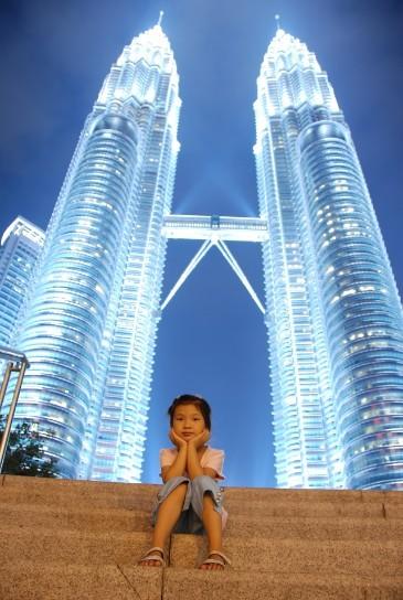 吉隆坡双塔夜景
