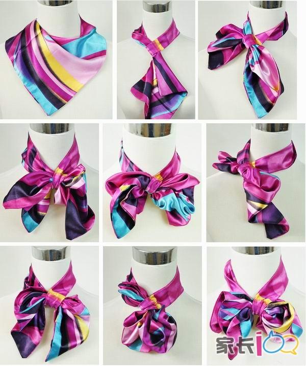 丝巾系法示意图