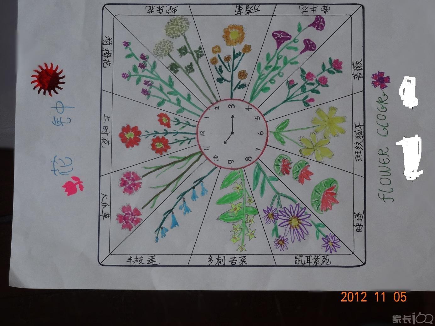 三年级花钟画画怎么画