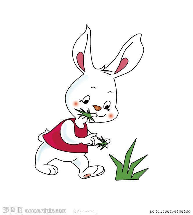 小兔的花衣裳简笔画