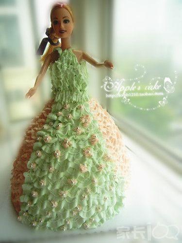 钩针编织芭比娃裙子图解