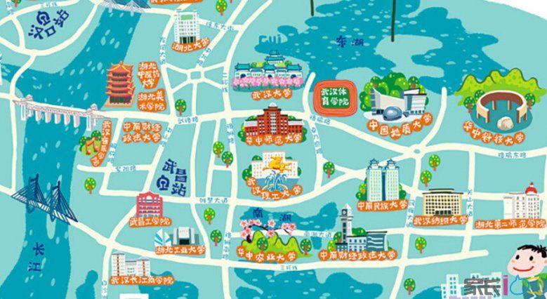 武汉高校地图有意思图片