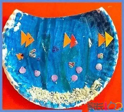 纸盘制作海底动物