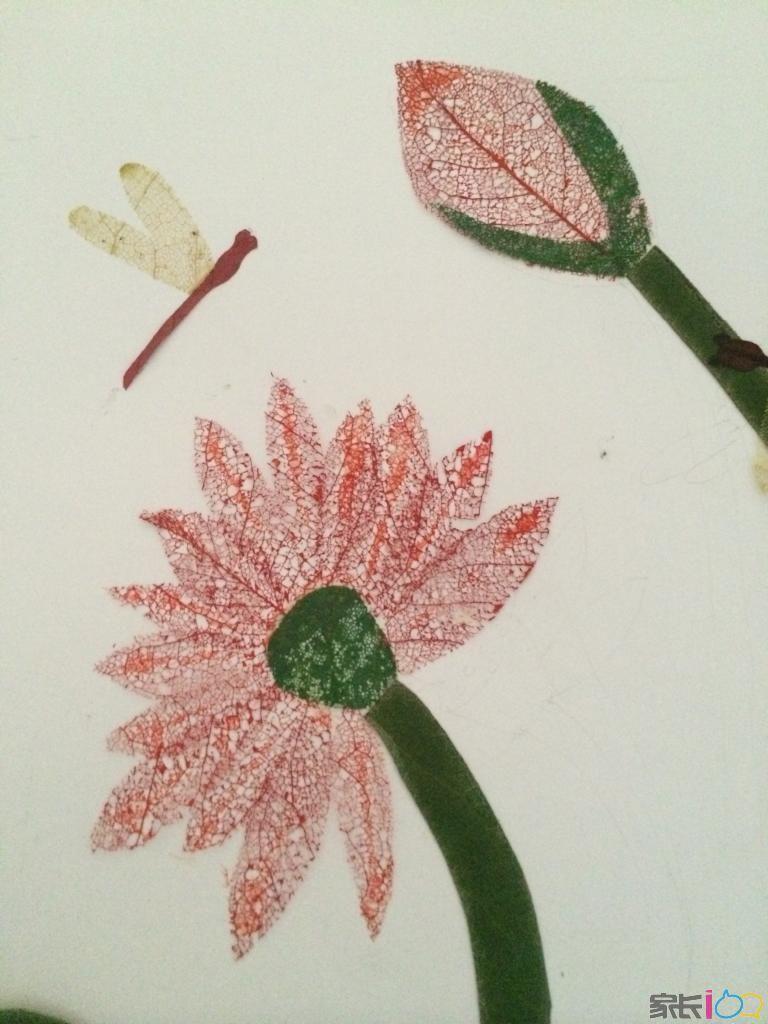 树叶贴画------幼儿园手工作业