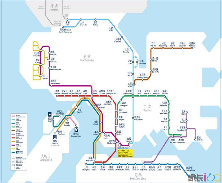 港铁路线图