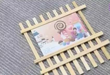 变废为宝,一次性筷子做的相框