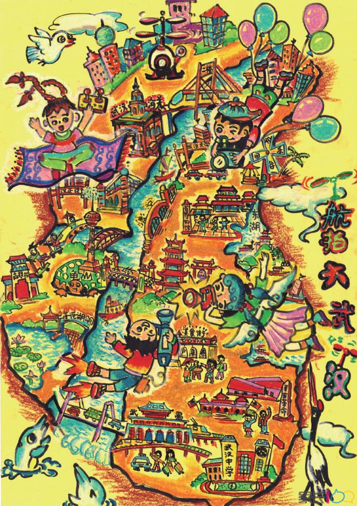 手绘地图大赛,都会在全国决赛中,评选出创意最佳的6幅作品,由中国政府