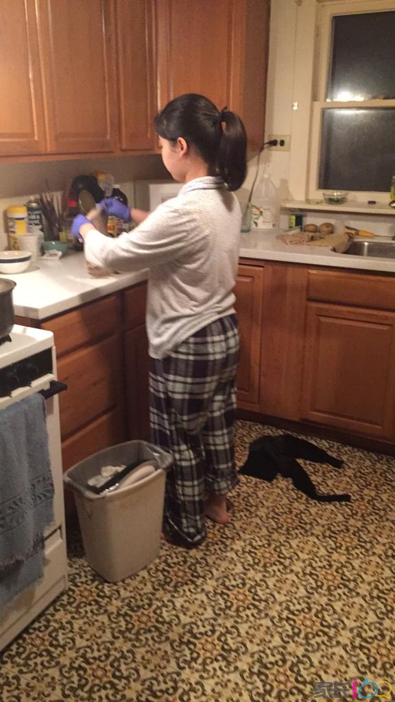 第一次在美国学做厨房的活