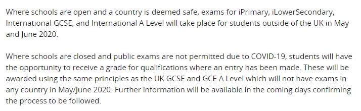 定了!今年英国本土A-level与GCSE成绩改老师估分!CAIE与AQA国际夏季考试正常举行