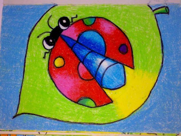 油画棒画的萤火虫